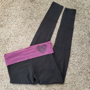 Victoria's Secret Purple & Black Skinny Leggings